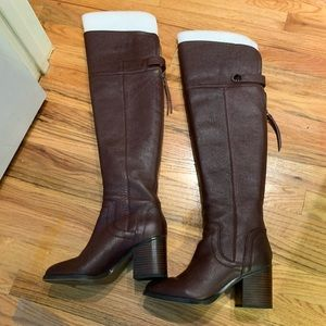 Franco Sarto Ollie Leather Over the Knee Boot 8.5